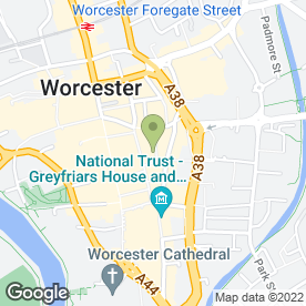 Map of Elgars Coffee Shop & Restaurant in Worcester, worcestershire