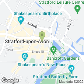 Map of The Encore in Stratford-Upon-Avon, warwickshire
