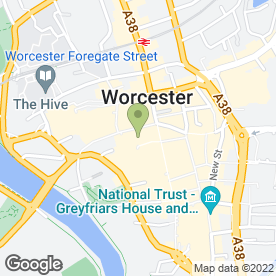 Map of Cornish Bakehouse in Worcester, worcestershire