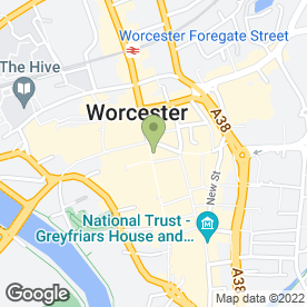 Map of Greggs in Worcester, worcestershire