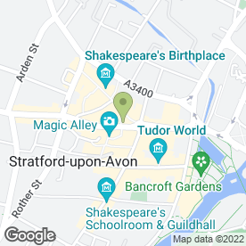 Map of Peter Clarke & Co in Stratford-Upon-Avon, warwickshire