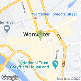 Map of Santander in Worcester, worcestershire