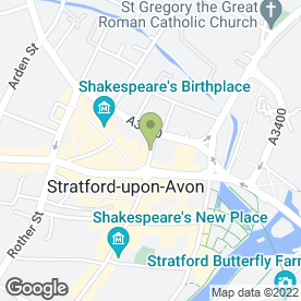 Map of Exposure Tanning in Stratford-Upon-Avon, warwickshire