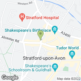 Map of Kents Hairdressers in Stratford-Upon-Avon, warwickshire