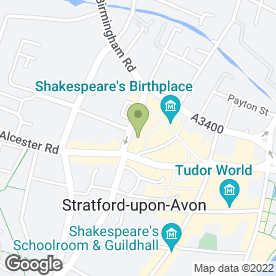 Map of Scott Jessop Hair in Stratford-Upon-Avon, warwickshire
