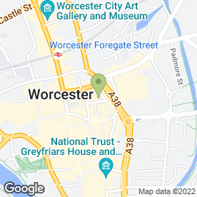 Map of Zenith Staybrite Home Improvements in Worcester, worcestershire