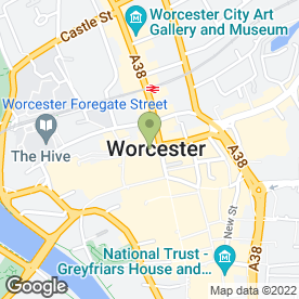 Map of ARY Mobile Repair Centre in Worcester, worcestershire