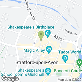 Map of Gorgeous Obsession in Stratford-Upon-Avon, warwickshire