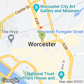 Map of McDonald's Restaurants Ltd in Worcester, worcestershire