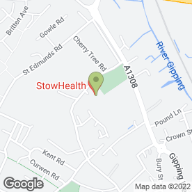 Map of StowHealth in Stowmarket, suffolk