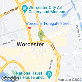 Map of Band in Worcester, worcestershire