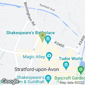 Map of The Food of Love in Stratford-Upon-Avon, warwickshire
