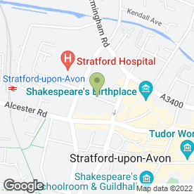 Map of Avon Drains in Stratford-Upon-Avon, warwickshire