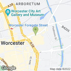 Map of BLR Battys in Worcester, worcestershire