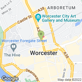 Map of The Worcester Whitehouse Hotel in Worcester, worcestershire