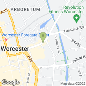Map of KI Health & Beauty in Worcester, worcestershire