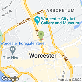 Map of Marcus Roofing Ltd in Worcester, worcestershire