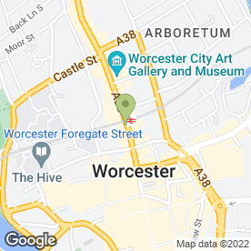 Map of GRIFFITHS & CHARLES in Worcester, worcestershire