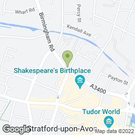Map of No. 1 Shakespeare St in Stratford-Upon-Avon, warwickshire