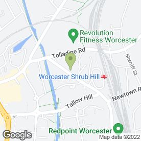 Map of Garritts Upholstery Services in Worcester, worcestershire