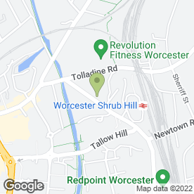 Map of Central Taxis in Worcester, worcestershire