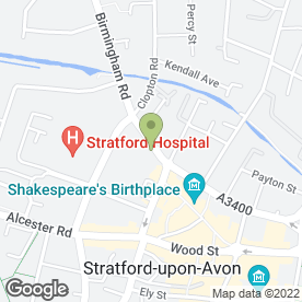 Map of Stratford Holiday Homes in Stratford-Upon-Avon, warwickshire