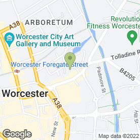 Map of Welcome Chinese Take Away in Worcester, worcestershire