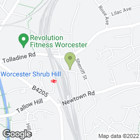 Map of Guardian Self Storage Centre Of Worcester in Worcester, worcestershire