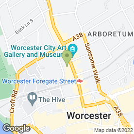 Map of Premier Places in Worcester, worcestershire
