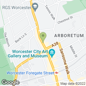 Map of Clydesdale Bank plc in Worcester, worcestershire