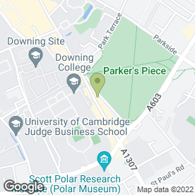 Map of Zizzi in Cambridge, cambridgeshire