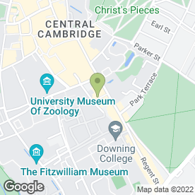 Map of The Varsity Restaurant in Cambridge, cambridgeshire