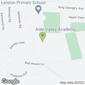 Map of Alde Valley School in Leiston, suffolk