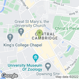 Map of Millies Cookies Ltd in Cambridge, cambridgeshire