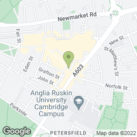 Map of The Orange Tree Cafe in CAMBRIDGE, cambridgeshire