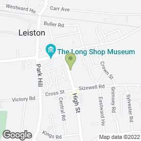 Map of Leiston Motor Hire Ltd in Leiston, suffolk