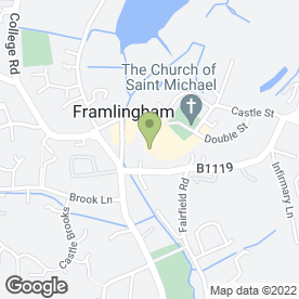 Map of Framlingham Travel in Framlingham, Woodbridge, suffolk