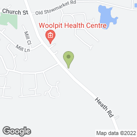 Map of Woolpit ARC in Woolpit, Bury St. Edmunds, suffolk