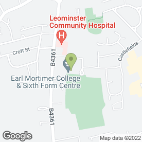 Map of Earl Mortimer College in Leominster, Herefd. And Worcest., herefordshire