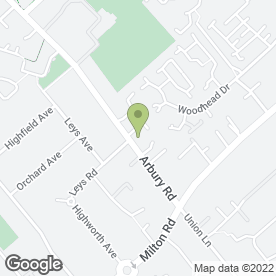 Map of Arbury Road Veterinary Surgery in Cambridge, cambridgeshire