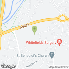 Map of Hunsbury Hill Centre in Northampton, northamptonshire