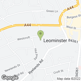 Map of The Marches Surgery in Leominster, herefordshire