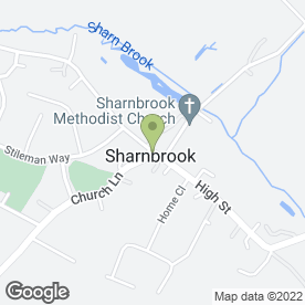 Map of The Cake Shop in Sharnbrook, Bedford, bedfordshire