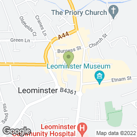 Map of Clothing Check Out in Leominster, herefordshire