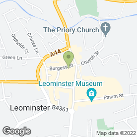 Map of Barclays Bank plc in Leominster, herefordshire