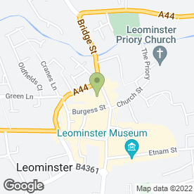 Map of TA Matthews in Leominster, herefordshire