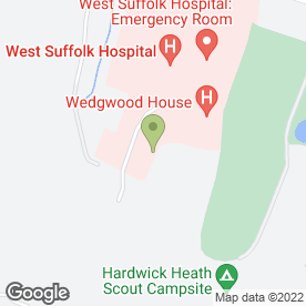 Map of Busy Bees Day Nursery At West Suffolk Hospital in Suffolk