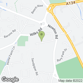 Map of Airport & Local Taxi Service in Bury St. Edmunds, suffolk