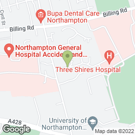 Map of Cliftonville Dental Care in Northampton, northamptonshire