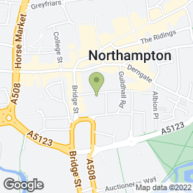 Map of DERNGATE ASSOCIATES in Northampton, northamptonshire